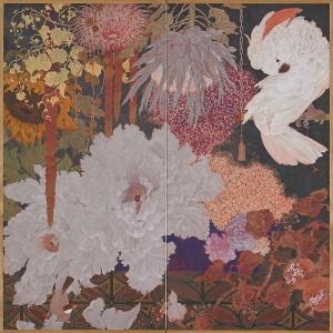 「花様今生・花昏れてなほ」(180×180)