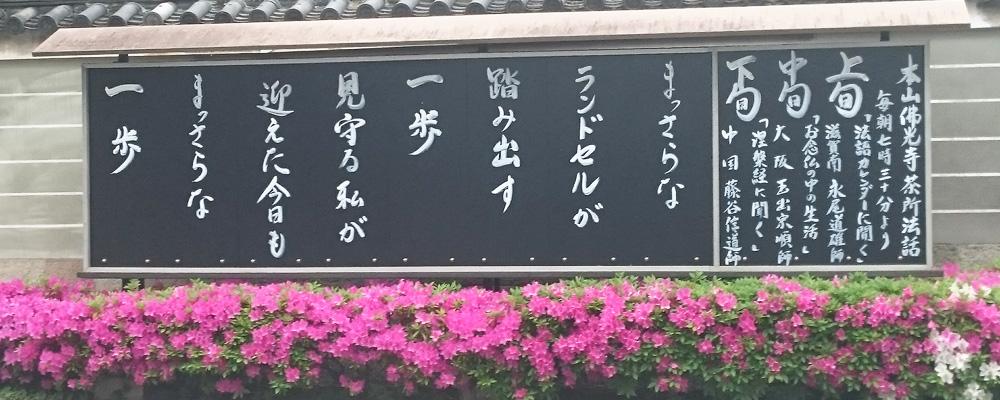 本山仏光寺 今月の標語(4月)