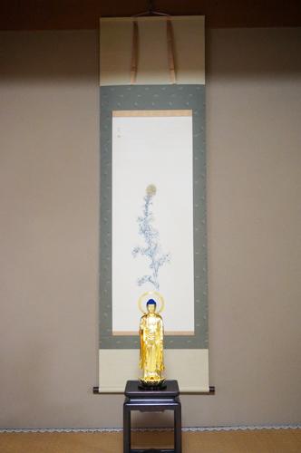 昇華論(日本画家・服部しほり)、釈迦如来立像(仏師・宮本我休)